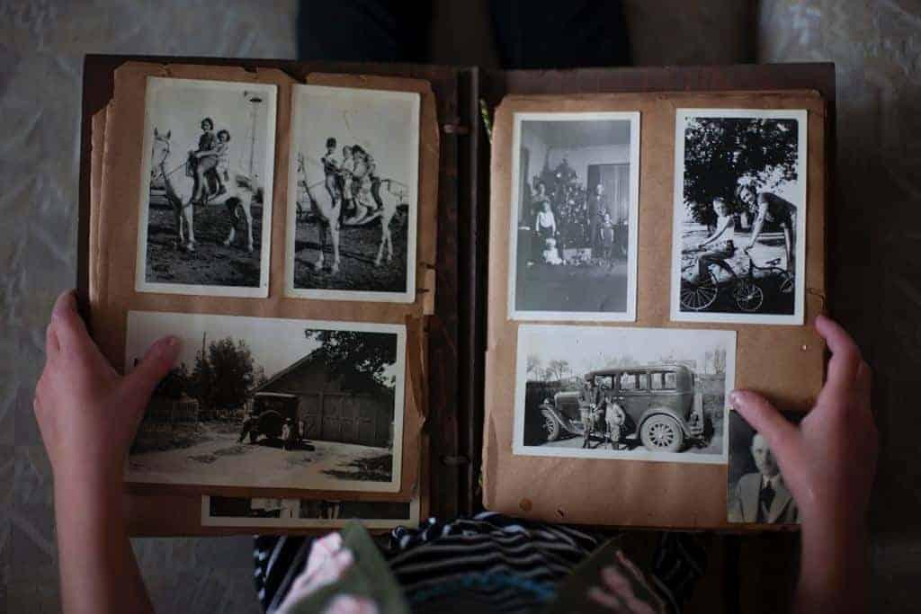 Fotoboek vergeetachtigheid of dementie