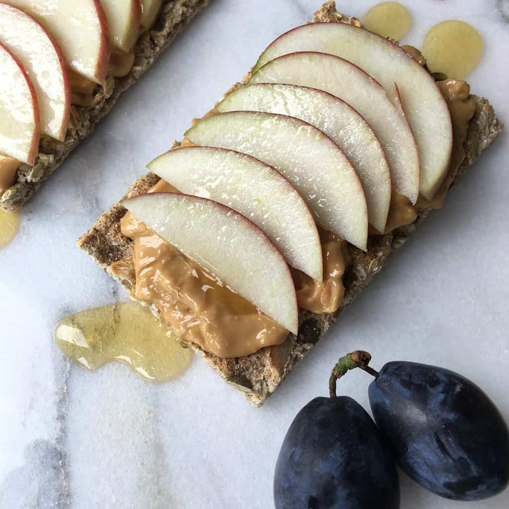 cracker pindakaas appel