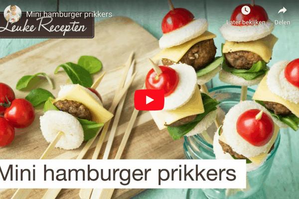 mini hamburgers prikkers