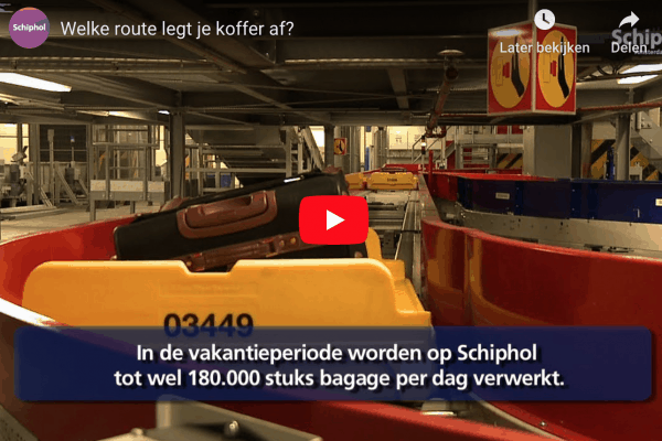 route koffer Schiphol