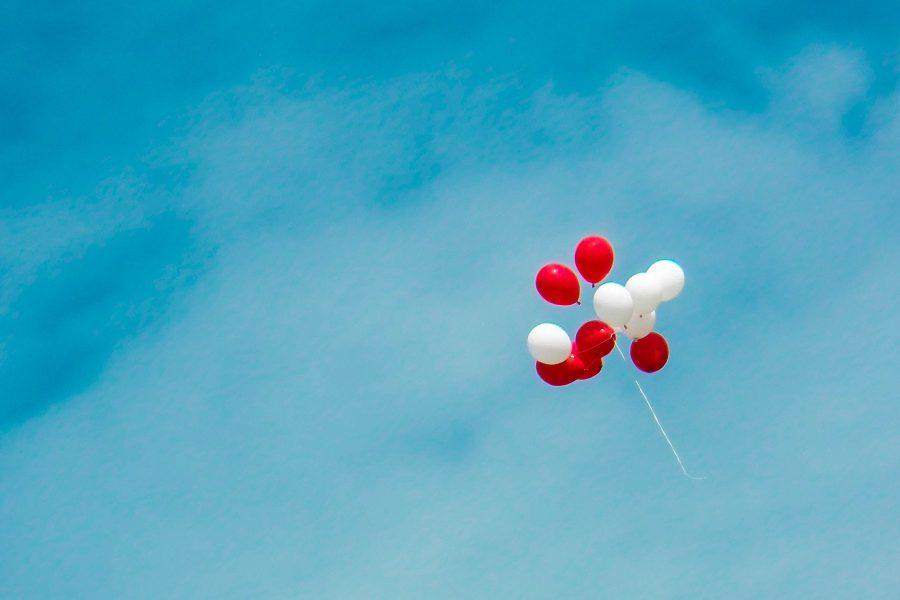 ballonnen ballen hoog