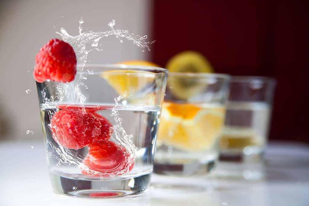 middagdip water drinken