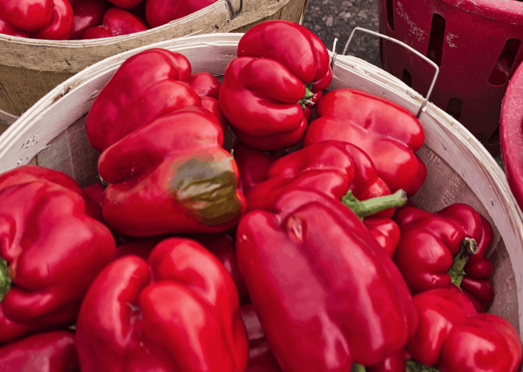 rode paprika groenten voor je huid