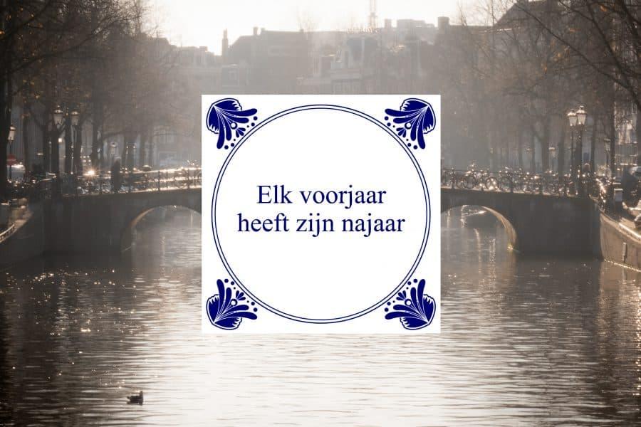 amsterdam weer spreuk