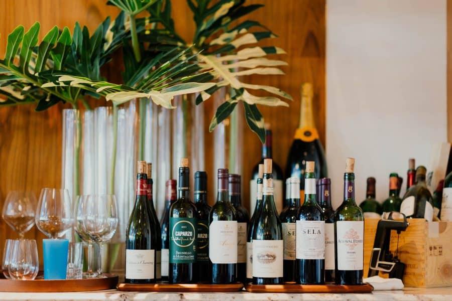 wijnflessen