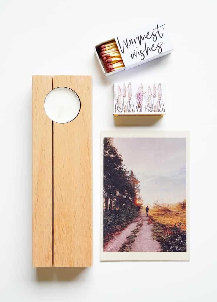 houten kaarthouder