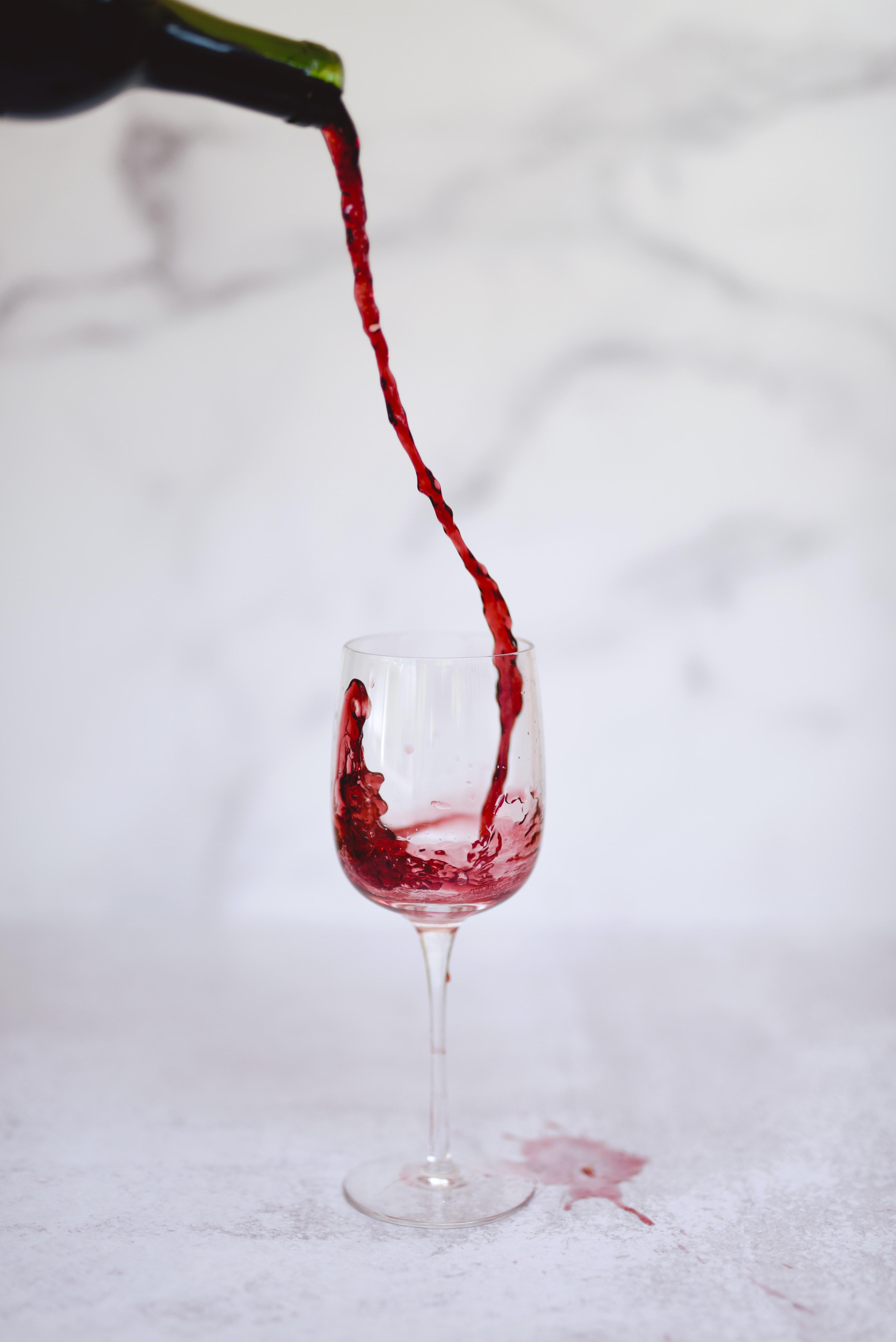 vlekken wijn